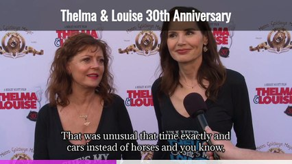 Thelma & Louise 30th Anniversary Interview Geena Davis & Susan Sarandon (Captioned)
