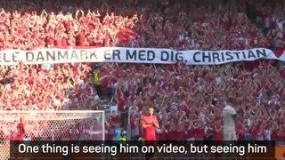 Eriksen visit important for Denmark players - Hjulmand