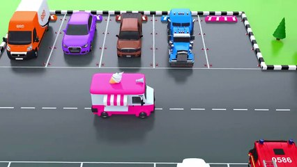 Learn Colors with Car Parking Street Vehicles Toys - Colors Videos for Children