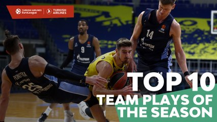 Turkish Airlines EuroLeague Top 10 Team Plays of the 2020-21 Season!