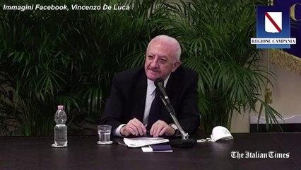 """De Luca: togliere mascherine """"non è completare lo sbarco in Normandia"""""""
