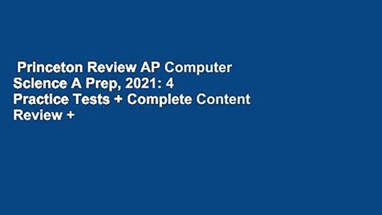 Princeton Review AP Computer Science A Prep, 2021: 4 ...