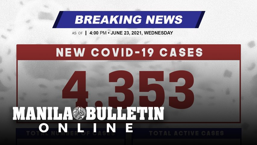 DOH reports 4,353 new cases, bringing the national total to 1,372,232, as of JUNE 23, 2021