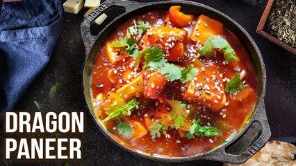 How to Make Dragon Paneer | Dragon Paneer Recipe | Quick Paneer Gravy | Sweet & Spicy Food | Varun