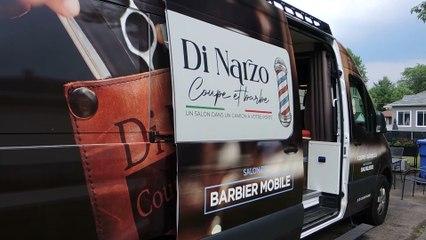 Le salon de barbier mobile de Nicola Di Narzo