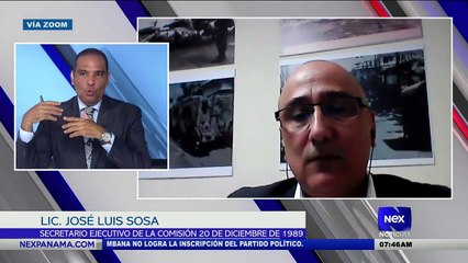 Entrevista a Lic. José Luis Sosa, secretario ejecutivo de la comisión 20 de diciembre de 1989  - Nex Noticias