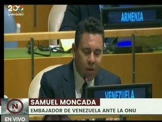 Samuel Moncada: La violencia económica se ha convertido en el arma preferida del gobierno de EE.UU.