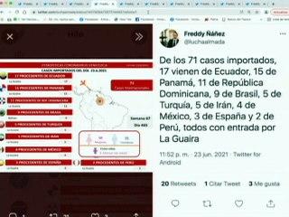 COVID-19   Venezuela registró 1.108 casos comunitarios, 71 importados y 245.519 recuperados
