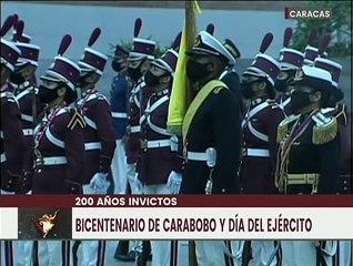 Izada de Bandera Nacional   Acto conmemorativo del Bicentenario de Carabobo y Día del Ejército Bolivariano