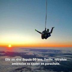 Yvette, 71 ans, va enfin réaliser son rêve de saut en parachute