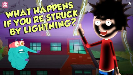 What Happens If You're Struck By LIGHTNING?   Thunder & Lightning   Dr Binocs Show   Peekaboo Kidz