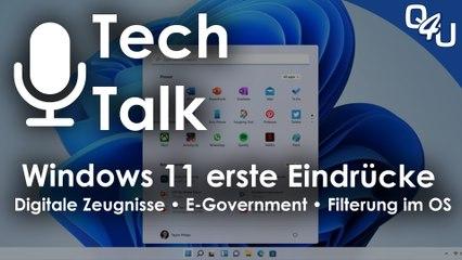 Windows 11, Digitale Zeugnisse, E-Government Dänemark, Mordauftrag im Darknet | QSO4YOU.com Tech  Talk #41