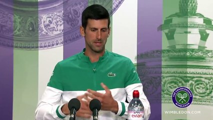 """Wimbledon 2021 - Novak Djokovic : """"I hope I will know in two weeks what it means to have 20 Grand Slams"""""""