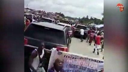 Arrivée de Laurent Gbagbo à Gagnoa