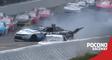 Justin Haley crashes hard at Pocono Raceway