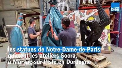 VIDÉO - Les statues de Notre-Dame retournent à Paris après leur restauration en Dordogne