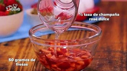 Pastel de pistache con fresa.| Cocina Delirante