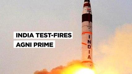 Agni Prime Success  DRDO Test Fires Nuclear Capable Ballistic Missile