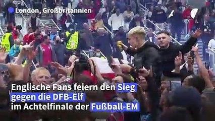 Fußball-EM: Englische Fans jubeln über 2:0 gegen Deutschland