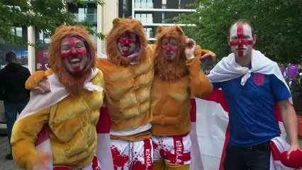 Fans at Wembley Stadium give their verdict after England beat Germany