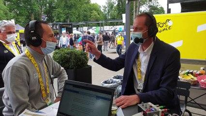 Le patron du Tour de France Christian Prudhomme sur France Bleu Mayenne