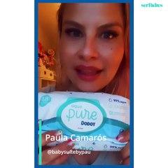 Paula Camarós (Baby Suit by Pau) prueba las toallitas Aqua Pure