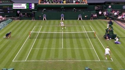 Federer advances after Mannarino retires injured