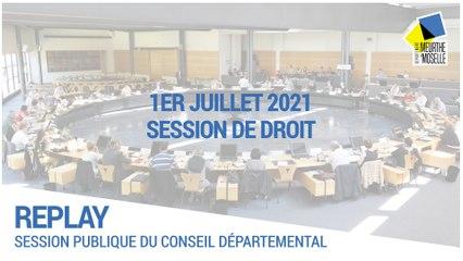 [SESSION] - Jeudi 1  juillet 2021 - Session de droit