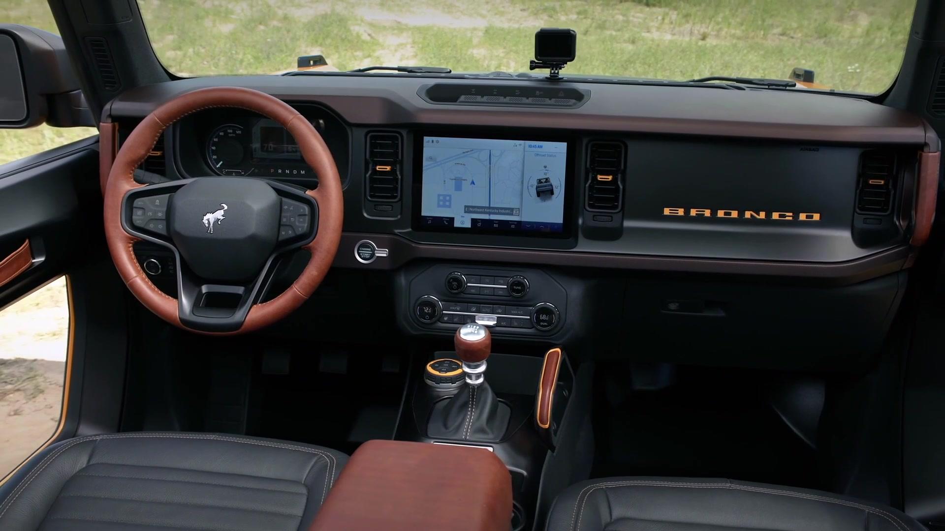 2021 Ford Bronco two door and four door Interior Design