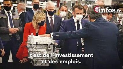 """Emmanuel Macron: """"Ensemble, soyons fiers et continuons de faire avancer notre industrie"""""""