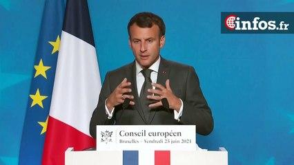 """Macron: """"Nos valeurs font notre Union. Nous n'y céderons rien"""""""