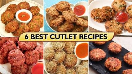 6 Best Cutlet Recipes In Hindi   How To Make Crispy Cutlets   Chicken Keema Cutlet   Soya Cutlet