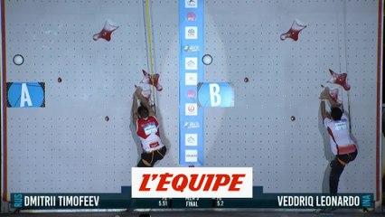 Veddriq remporte la vitesse - Escalade - CM (H)