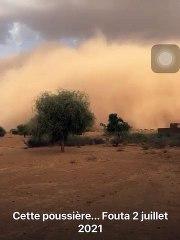 Matam : Un énorme nuage de poussière installe la panique