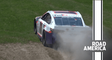 Hamlin off track, blows through gravel trap and grass at Road America