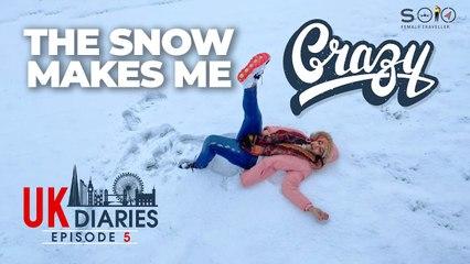 UK Diaries  |_ Solo Female Traveller _| Episode 5 |_  The Snow Makes Me Crazy| _Lena's Magazine