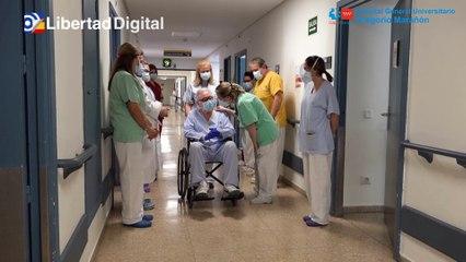 El Gregorio Marañón celebra el alta hospitalaria de su paciente 6.000 ingresado por Covid