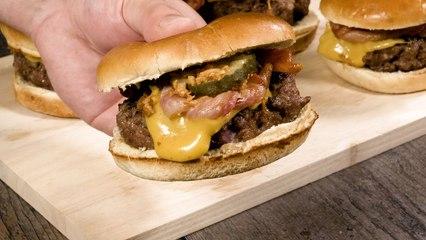 Wendy's Inspired Pretzel Burger