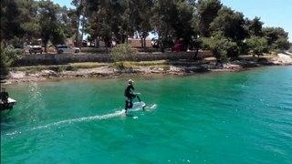 Llega a España la hidrobicicleta de Manta5, que reproduce el ciclismo sobre el agua