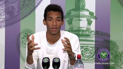 """Wimbledon 2021 - Felix Auger-Aliassime : """"C'est un beau moment dans ma vie. Je rêvais de jouer ces grands tournois quand j'étais enfant"""""""