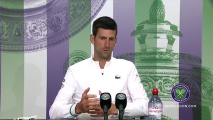 """Wimbledon 2021 - Novak Djokovic : """"I would like this court to become my second home because it is the most sacred court there is in this sport"""""""
