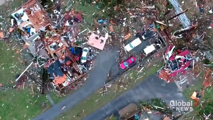 TEXAS TORNADO FEST - July 6, 2021 Nashville tornado - Drone footage shows incredible path of destruction and damage