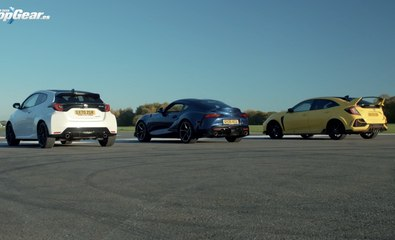 VIDEO: Toyota GR Yaris vs Toyota Supra vs Honda Civic Type R, ¿cuál es más rápido?