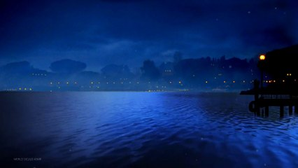Silence in the night on the blue lake | White noise