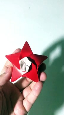 origami star / handmade star / paper star / diy star demo