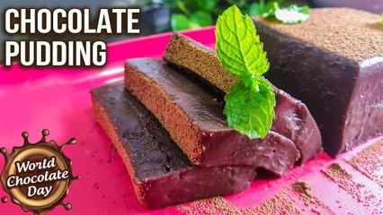 How To Make Chocolate Pudding | Chocolate Pudding Recipe | Eggless, No-Bake Recipes | Chocolate Day
