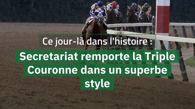 Ce jour-là dans l'histoire : Secretariat remporte la Triple Couronne dans un superbe style