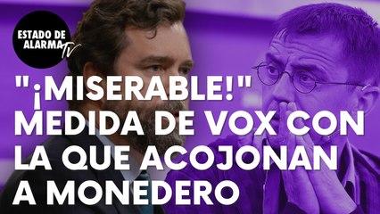 """La contundente medida de anunciada por Vox con la que acojonan al podemita Monedero: """"Miserable"""""""