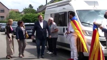 Trobada amb Carles Puigdemont dels presos indultats d'ERC