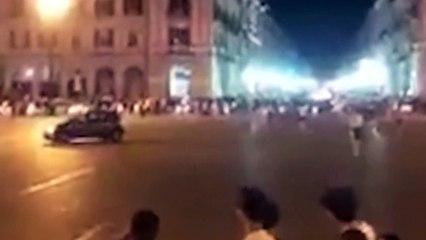 Shqiptari perplas motorin me dy pasagjere, momenti i aksidentit te rende filmohet live